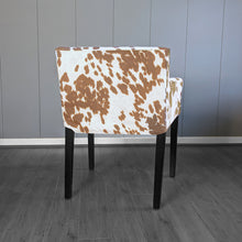 Load image into Gallery viewer, Light Brown Faux Cow Print, IKEA NILS Chair Cover