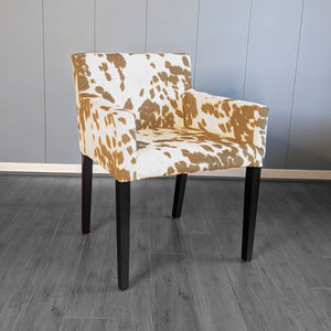Light Brown Faux Cow Print, IKEA NILS Chair Cover
