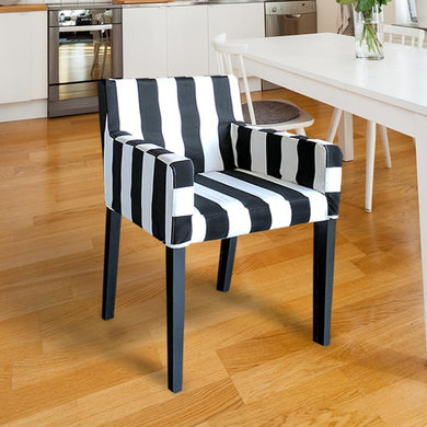 IKEA NILS Black and White Stripe Chair Cover