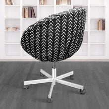 Load image into Gallery viewer, Boho Mudcloth Black IKEA SKRUVSTA Chair Slip Cover