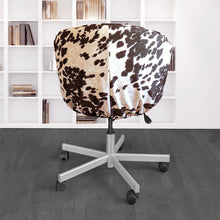 Load image into Gallery viewer, IKEA SKRUVSTA Chair Slip Cover, Dark Brown Faux Cow Hide