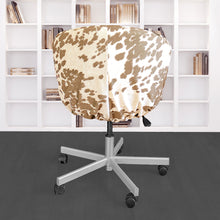 Load image into Gallery viewer, IKEA SKRUVSTA Chair Slip Cover, Light Brown Faux Cow Hide