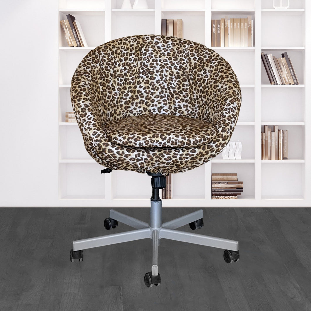 IKEA SKRUVSTA Chair Slip Cover, Leopard Cheetah Brown