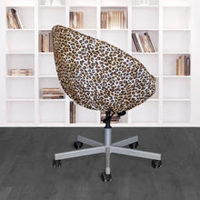 Load image into Gallery viewer, IKEA SKRUVSTA Chair Slip Cover, Leopard Cheetah Brown