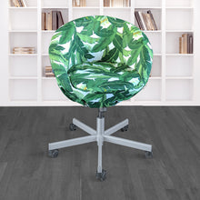 Load image into Gallery viewer, IKEA SKRUVSTA Chair Slip Cover, Jungle Green Tropical Banana Leaf