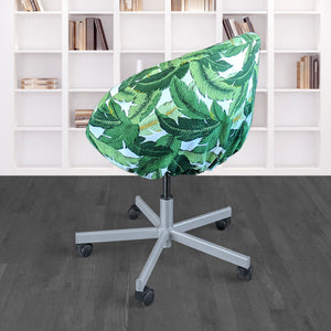 IKEA SKRUVSTA Chair Slip Cover, Jungle Green Tropical Banana Leaf