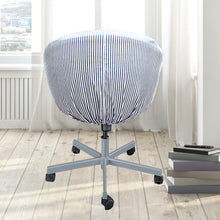 Load image into Gallery viewer, IKEA SKRUVSTA Chair Slip Cover, Navy Ticking Stripe