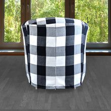 Load image into Gallery viewer, IKEA TULLSTA Chair Slip Cover, Black Plaid Buffalo Check