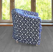 Load image into Gallery viewer, IKEA TULLSTA Chair Cover, Coastal Navy Blue Rope Print