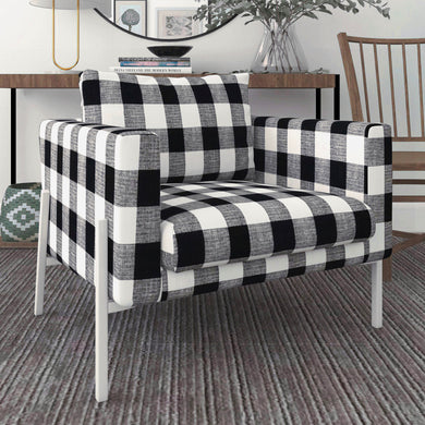 IKEA KOARP Armchair Cover, Farmhouse Buffalo Check