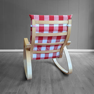 Red Buffalo Check Plaid Ikea Poang Chair Cover