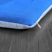 Load image into Gallery viewer, Sunbrella Blue IKEA HEMMAHOS Bench Pad Slip Cover