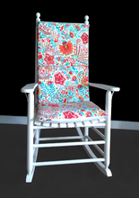 Load image into Gallery viewer, Floral Print Rocking Chair Cushion, Custom Flowers Rocking Chair Cover