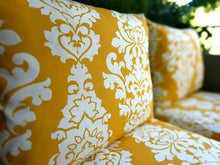 Load image into Gallery viewer, SALE IKEA Outdoor Slipcovers, Golden Yellow Floral Damask