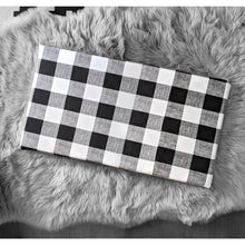 Load image into Gallery viewer, Cover for Kids Bench Pad, Black Buffalo Check Plaid