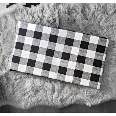 Cover for Kids Bench Pad, Black Buffalo Check Plaid
