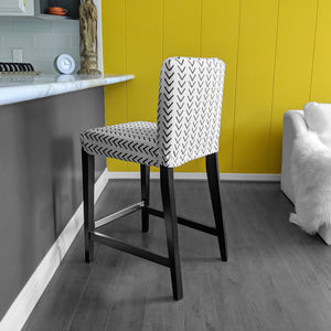 IKEA HENRIKSDAL Bar Stool Chair Cover, Arrow Mudcloth White