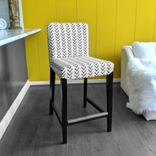 Load image into Gallery viewer, IKEA HENRIKSDAL Bar Stool Chair Cover, Arrow Mudcloth White