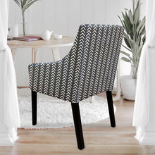 Load image into Gallery viewer, Sakarias chair cover, black arrow print