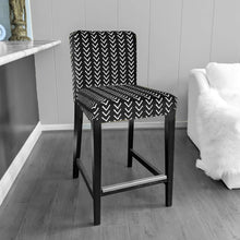 Load image into Gallery viewer, Arrow Mudcloth Black, IKEA HENRIKSDAL Bar Stool Chair Cover