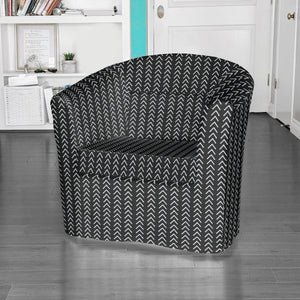 IKEA TULLSTA Chair Slip Cover, Mudcloth Black