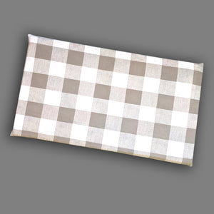 Cover for Kids Bench Pad, Biege Buffalo Check Plaid