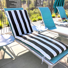 Load image into Gallery viewer, IKEA OUTDOOR Chaise, Chair Pad Covers, Black and White Stripe