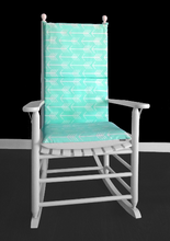 Load image into Gallery viewer, Mint Arrows Custom Rocking Chair Cushion