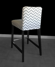 Load image into Gallery viewer, IKEA Henriksdal Bold Gray White Chevron Chair Covers