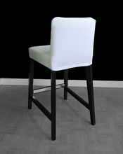Load image into Gallery viewer, SALE SUNBRELLA IKEA Bar Stool Chair Covers, Outdoor Solid White