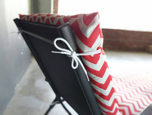 Load image into Gallery viewer, IKEA OUTDOOR Slip Cover, Hallo Chaise Pad Cover, Zig Zag Chevron Coral