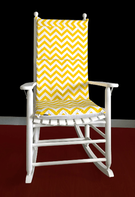 Yellow Zig Zag Chevron Rocking Chair Cover