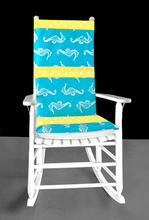 Load image into Gallery viewer, Seahorses Rocking Chair Cushion Cover, Nursery Chair Covers