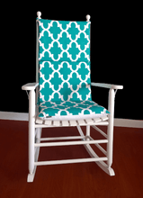 Load image into Gallery viewer, Teal Reversible Adjustable Rocking Chair Pad