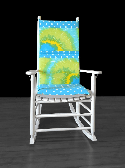 Turquoise Tie Dye Rocking Chair Cover