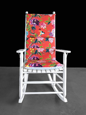 Colorful Floral Rocking Chair Cushion