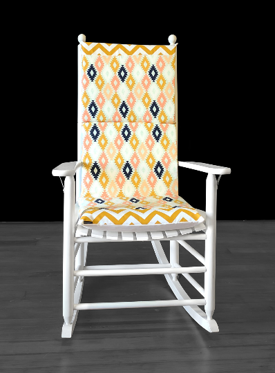 Diamond Pattern Rocking Chair Pads