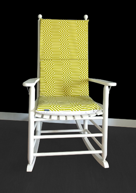 Adjustable Patterned Rocking Chair Cover