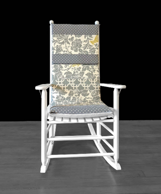 Cockatoo Floral Rocking Chair Cushion Cover