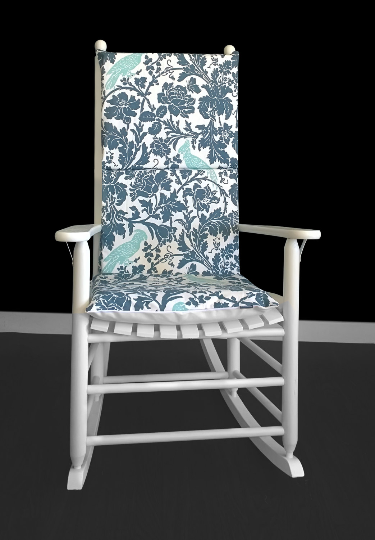 Cockatoo Flowers Rocking Chair Cover With Pads
