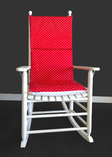 Red Stars Rocking Chair Pad