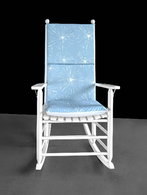 Pastel Blue Sparks Rocking Chair Cushion