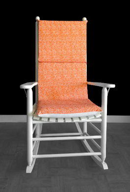 Orange Line Pattern Rocking Chair Cushion Cover