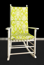 Load image into Gallery viewer, Lime Green Indian Style Rocking Chair Cushion Cover