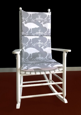 Adjustable Peacock Rocking Chair Cover And Pads