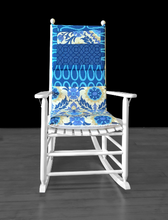 Load image into Gallery viewer, Blue Flowers Floral Adjustable Rocking Chair Cover