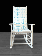 Load image into Gallery viewer, Turquoise Anchors Adjustable Rocking Chair Cover