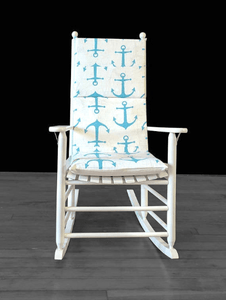 Turquoise Anchors Adjustable Rocking Chair Cover