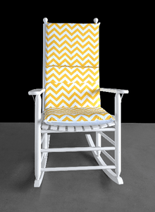SAMPLE Yellow Zig Zag Chevron Rocking Chair Cover