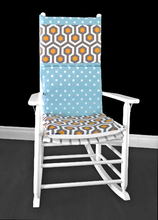 Load image into Gallery viewer, Geometric Polka Dot Rocking Chair Cover